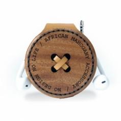 木と革の肩紐用ポーチ01