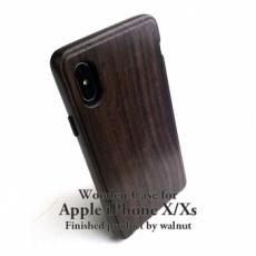 完成品:iPhone X / Xs 専用 ウォルナットケース