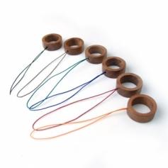 Ring Strap01 木製リングストラップ