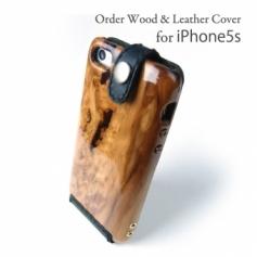 異素材指定・屋久杉/iPhone5 専用木製ケース verC