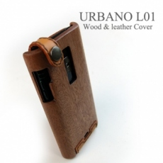 URBANO L01 by KYOCERA 木製ケース/レザーカバー