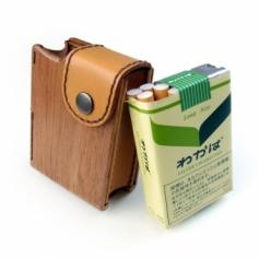 木&革製タバコケースわかば専用