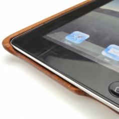 for iPad2/新しいiPad3兼用木製タブレットケース・カバー