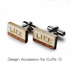 DESIGN Cuffs O 木製カフスO