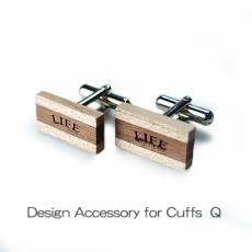 DESIGN Cuffs Q 木製カフスQ
