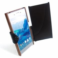 XPERIA XZ 専用木と革のケース Bookタイプ