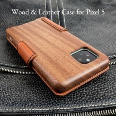 別注品:Google Pixel 5 専用 木と革のデザインケース