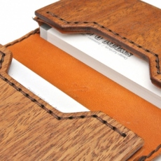 for card case05 木と革の名刺入れ