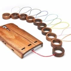 for Ring Strap02 木製リングストラップ(刻印入り)