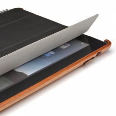 iPad2/新しいiPad3兼用木製タブレットケース・カバー(Smart Cover用加工済)