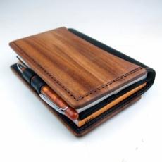 特注:ほぼ日手帳&RHODIA専用木と革の手帳