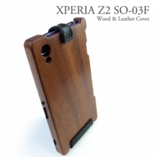 XPERIA Z2 専用 木と革のデザインケース