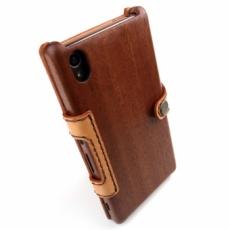 XPERIA Z4 専用木と革のケース Bookタイプ