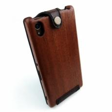 XPERIA Z4 専用木と革のケース
