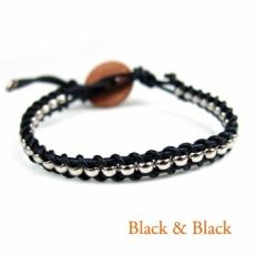 ヘリカル ブレスレット (黒&黒)