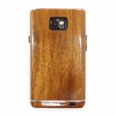 for SAMSUNG Galaxy S2 SC-02C木製ケース/シルバーラインサンプルK