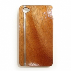 for iPhone4S木製ケース/シルバーラインサンプルM