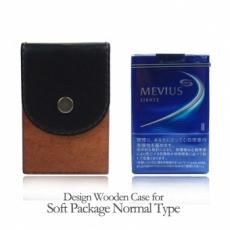 木製タバコケース ソフトパッケージ用カバー付き