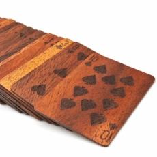 木製のトランプ  基準サイズ