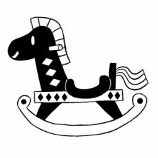 栗木 栗・KURIKI MARRONのイラスト刻印データ/木馬