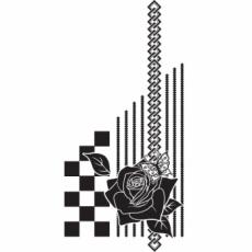 照紗・TERESAのイラスト刻印データ/薔薇に蝶