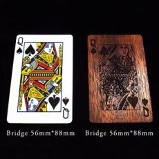 木製のトランプ Bridgeサイズ
