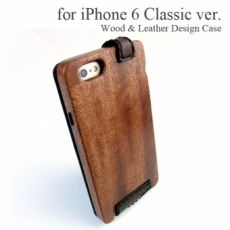 Apple iPhone 6 専用 木と革のデザインケース Classic ver.