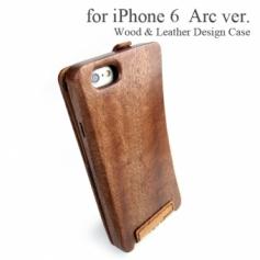 Apple iPhone 6 専用 木と革のデザインケース Arc ver.