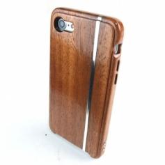 iPhone 7 専用木製ケース/シルバースタイルE