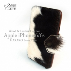 別注品:iPhone 6/6s専用特注ケース/レザーカバーハラコ