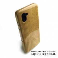 別注 : AQUOS R3 専用特注ケース(ケヤキ鏡面)