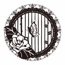 照紗・TERESAのイラスト刻印データ/薔薇輪に蝶