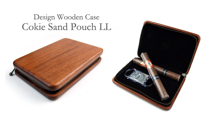 Cokie Sand Pouch 木とチャックのポーチ LL サイズ トップ